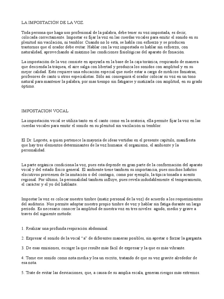 557d11564 La Impostación de La Voz Emagister