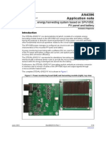 AN4396 Application Note for ST Evaluation Board  based on the SPV1050 ULP energy harvester and battery charger