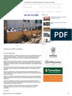 08-26-2015 Supervisan Trabajaos en La Calle Peatonal Hidalgo