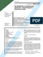 NBR 05123 - Rele Foteletrico e Tomada Para Iluminacao - Especificacao e Metodo de Ensaio