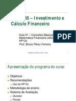 1. Conceitos Básicos Em Matemática Financeira