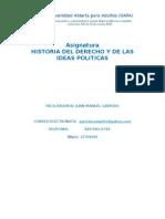 Cronograma de Actividades. Historia Del Derecho y de Las Ideas Politicas (1)