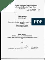 Conceptual Design Analysis of an MHD Power