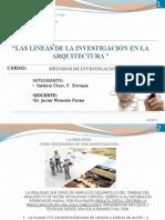 Lineas de La Investigación en Arquitectura