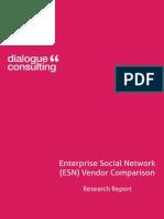 Report Enterprise Social Networking Platform Vendor Comparison