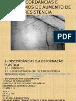 DISCORDÂNCIAS E MECANISMOS DE AUMENTO DE RESISTÊNCIA-NIVELAMENTO