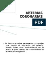 ARTERIAS CORONARIAS