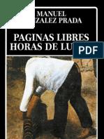 M. Gonzalez Prada. Paginas Libres - Horas de Lucha