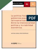 La política fiscal de los gobiernos populistas latinoamericanos