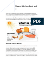 The Role of Vitamin D in Your Body and Your Muscles | Brian Fulton – Registered Massage Therapist