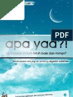 Novel Apa Yaa, Apa Hidup Ini Kan Lebih Baik Dari Mimpi - Dzyemtri Muharram