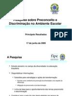 Pesquisa Sobre Preconceito e Discriminação No Ambiente
