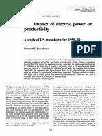 El impacto de la energía eléctrica en productividad Un estudio de la manufactura de Estados Unidos desde 1950 hasta 1984