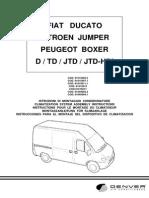 Fiat Ducato 230 2,8l Einbauanleitung 01015015