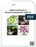 RBGE Certificate in Botanical Illustration 2015-2016