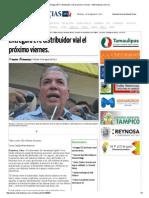 08-26-2015 Entregará ETC Distribuidor Vial El Próximo Viernes