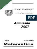 1exame de Selecao 2007 Gabarito Seguro