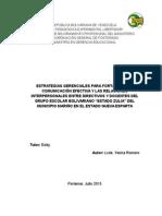 La Comunicación interpersonal entre Directivos y Docentes