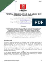 Informe de Laboratorio No3 Ley de Ohm