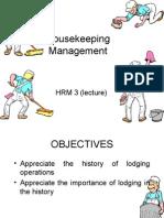 Housekeeping Management