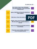 Planilha Para Controle de Estudos VERSÃO BETA 1.2