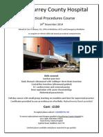 Practical Procedures Course Poster Nove 14
