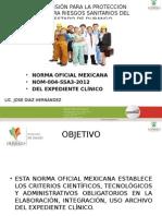 Presentación Expediente Clinico Nom-168