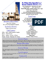 Bulletin for St. Peter the Apostle 8-30-15