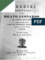 Da Porto Maurizio, Leonardo - Esercizi spirituali - vol.1 1836.pdf