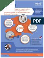 Infografía de Recurso vs. SEGOB sobre empresas mineras con posibles lazos con el crimen organizado