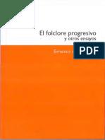 Ernesto de Martino, El Folklore Progresivo