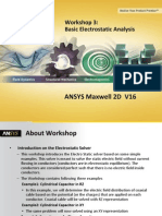 Maxwell v16 2D WS03 BasicElectrostaticAnalysis