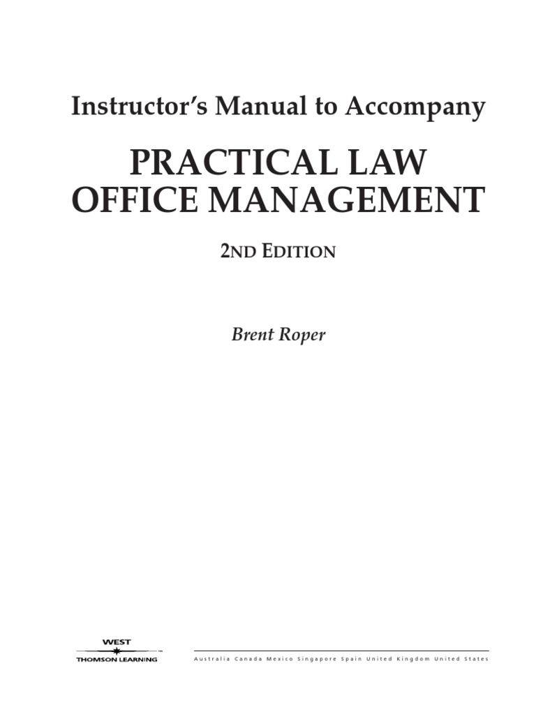Law office management - Law Office Management 6