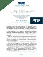 Rd 400/2002 Estructura del Ministerio del Interior
