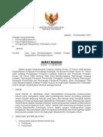 Surat Edaran Menteri PU Nomor 13 Tahun 2005
