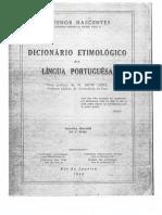 Dicionario Etimológico Da Língua Portuguesa - Antenor Nascentes