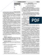 L Reglamento Del Residentado Odontologico DS 009 2013 SA