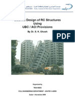 Seismic Design of RC Structures Using UBC_ACI Provisions