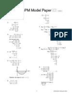 Model Paper [Anal Add Math CD]