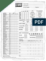 Adventure d 20 Character Sheet
