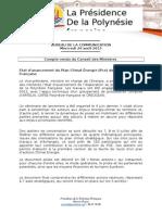 Compte Rendu Du Conseil Des Ministres - Mercredi 26 Août 2015