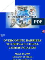 Over Coming Barriers Cross Cultural Communication