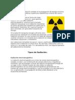 Radiación Tipos de Radiacionincluye Bibliografia y Objetivo Del Trabajo