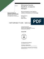 NIST SP 800-100 Information Security Handbook