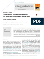 Verification of Authentication Protocols for Mobile Satellite Communication Systems