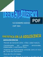 Diettica en La Adolescencia