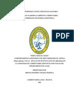 COMPORTAMIENTO AGRONÓMICO DE TRES VARIEDADES DE  ARVEJA (Pisum sativum), CON LA APLICACIÓN DE INOCULANTE DE (Rhizobium) EN LA COMUNIDAD DE CARMEN PAMPA, PROVINCIA NOR YUNGAS DEL DEPARTAMENTO DE LA PAZ.