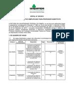 Edital 205-2015 Processo Seletivo Professor Substituto