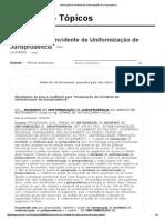 Instauração de Incidente de Uniformização de Jurisprudencia