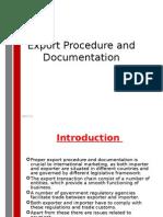Export Procedure and Documentation